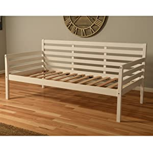 Daybed, bed, bedroom, twin, twin-size, kids, guest, couch, spare, guest, mattress, wood, white