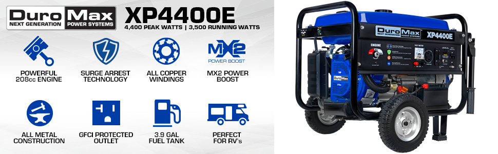 Duromax XP4400E Gas Powered Portable Outdoor Life Generator