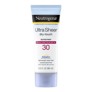 Neutrogena Ultra Sheer Dry-Touch Face and Body Sunscreen Lotion with Broad Spectrum SPF 30