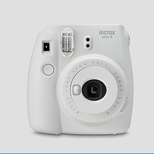 Fujifilm instax mini9 smoky white instant camera