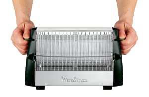 moulinex a15453 grille pain noir inox cuisine maison. Black Bedroom Furniture Sets. Home Design Ideas