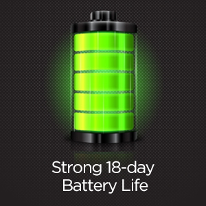 18-Day Battery Life