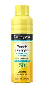 Neutrogena Beach Defense Sunscreen Spray Mist with Broad Spectrum