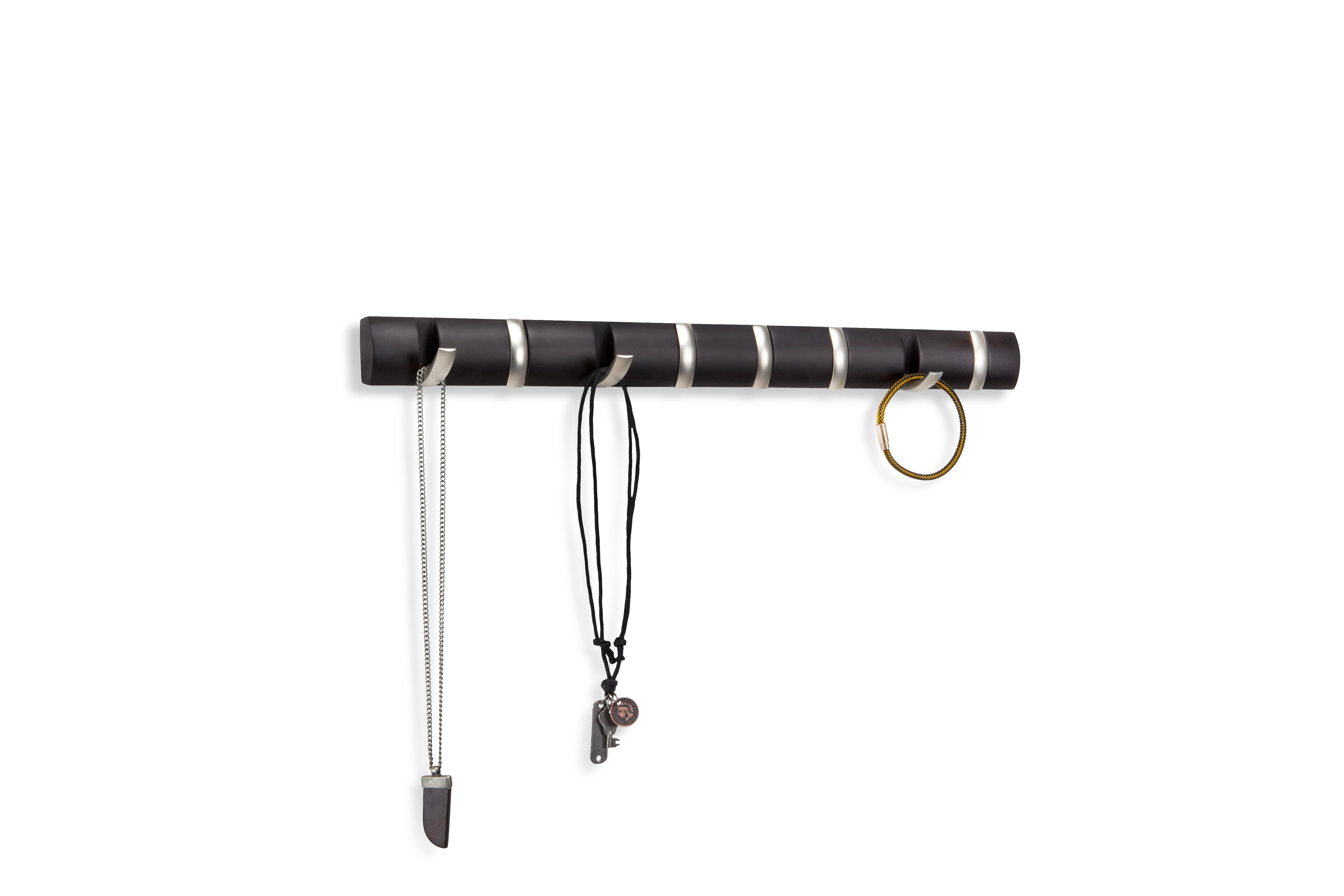 Umbra flip 8 garderobenhaken moderne schlichte und for Einfache garderobenleiste