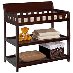 delta children changing table dressing baby nursery furniture storage two shelves