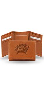 wallet,mens wallet,wallet for men,leather wallet,NHL,Blue Jackets,Columbus Blue Jackets