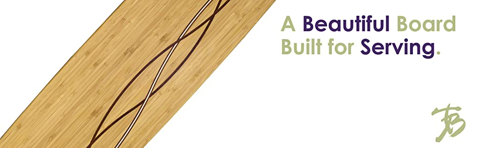 """30/"""" x 8-1//2/"""" Totally Bamboo Del Mar Large Charcuterie Board and Cheese Plate"""
