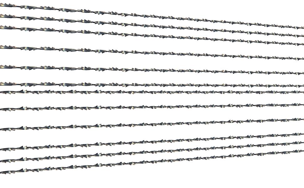 Hoja de sierra de 1#saw blade Sierra curva Hoja de sierra de metal Hoja de sierra dentada en espiral