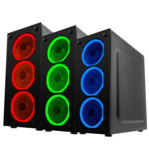 Mars Gaming MCG Red, caja PC ATX, cristal templado, 3 ventiladores ...