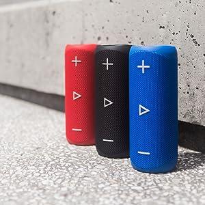 Sharp Gx Bt280 Bk Stereo Bluetooth Lautsprecher Kräftiger Bass Hochdynamischer Klangbereich 12 Stunden Spielzeit Staub Spritzwassergeschützt Mikrofon Für Telefonate Google Siri Schwarz Audio Hifi