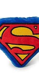 Superman Clark Kent Shield Logo S DC Comics Justice League Man of Steel Plush Chew Toy Squeak Dog