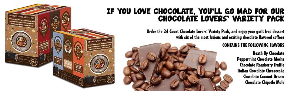 Amazon Com Crazy Cups Coffee Chocolate Lovers Single
