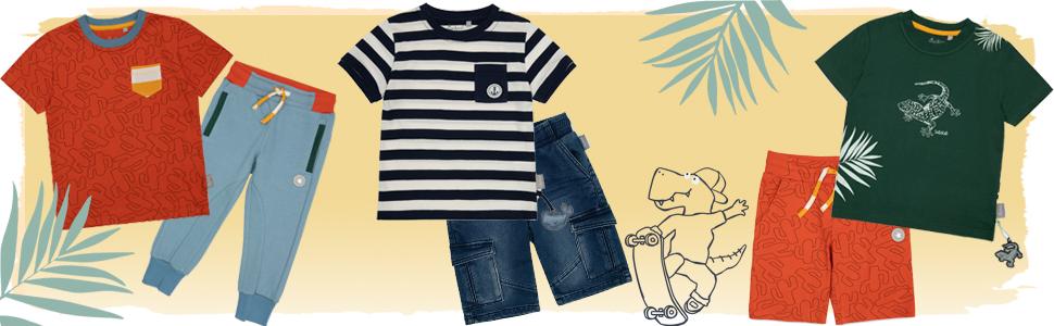Mini niño niño niño jeans short chaqueta regalo Neffe Pate Cousin camiseta multicolor verano primavera