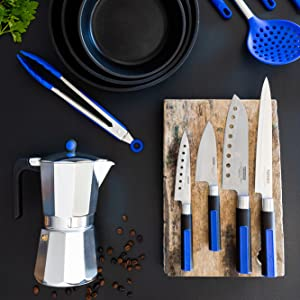 Compra Monix Solid + - Set de 4 cuchillos japoneses, acero ...
