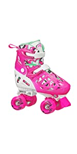 Trac Star adjustable quad roller skates for girls