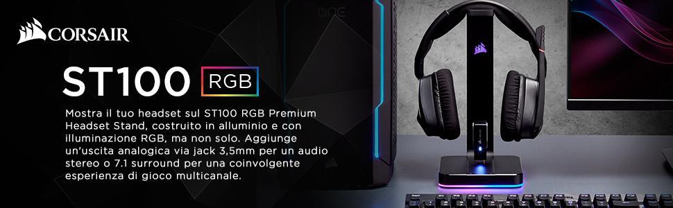 Corsair ST100 RGB Porta Cuffie Premium con Scheda Audio 7.1 Surround ... 91de26dfc5ac