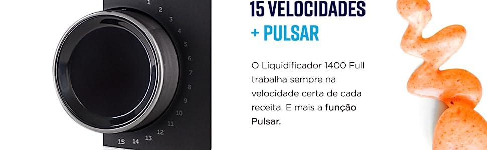 Liquidificador 15 velocidades