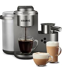 keurig k cafe coffee maker, coffeemaker, cappuccino, latte, k cup pod single serve coffee machine