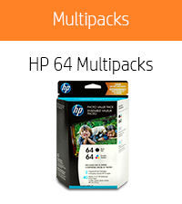 HP 64 Black & Tri-color,  40 sheets photo paper (4x6-inch)