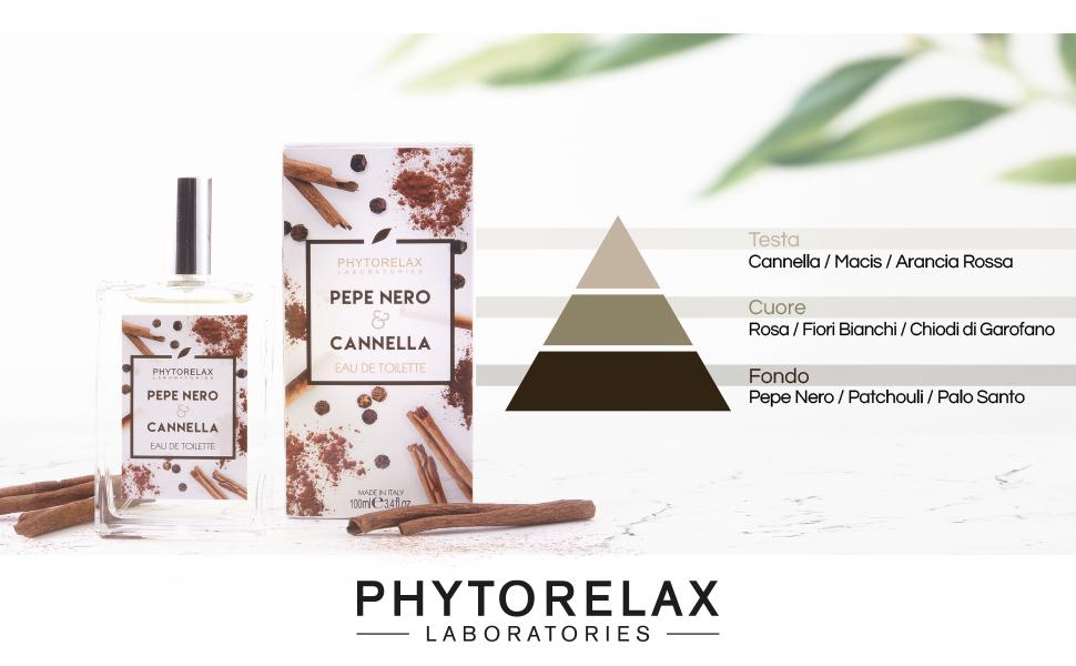 Phytorelax Laboratories Pepe Nero & Cannella Eau De Toilette 100 ml