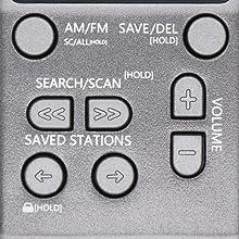 easy to use keypad fm am digital radio