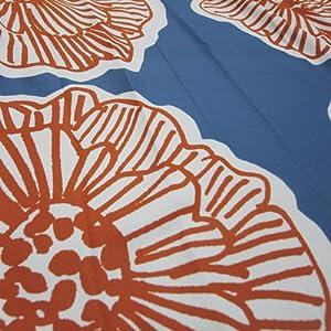 花柄 北欧 スミノエ カーテン ダイリン ビビット 派手 おしゃれ かわいい 赤 オレンジ 青