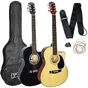 3rd Avenue STX10ECANPK Cutaway Electro Guitarra Acústica Pack ...