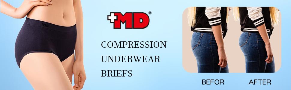 49768571bcb80 MD Womens Shapewear Compression Underwear Briefs Panty Rear and ...