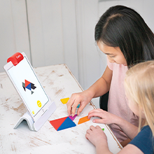 Solve puzzles and problems with Osmo and genius starter kit on the Fire tablet Plus version
