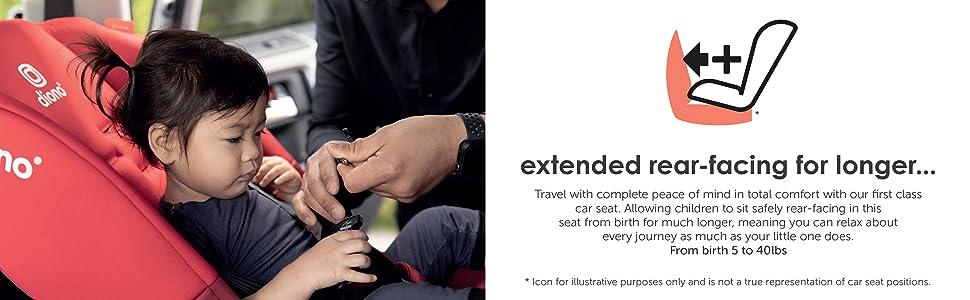 extended rear-facing for longer...