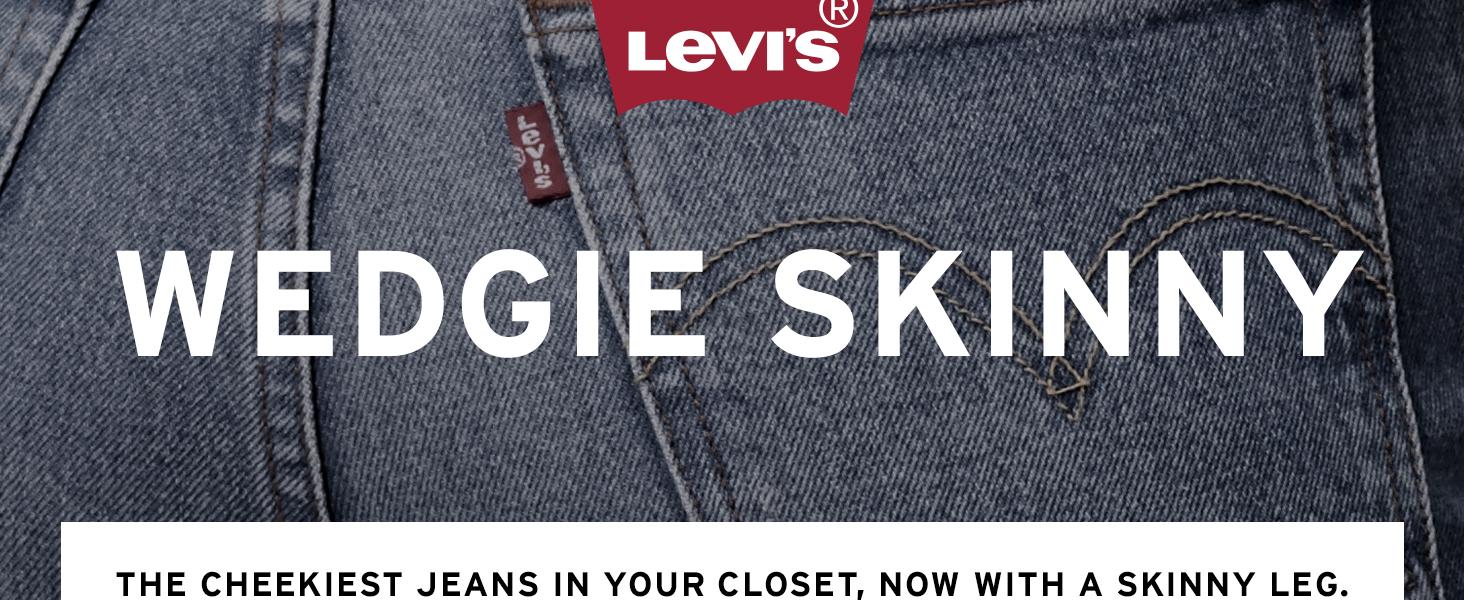 Womens Levis Wedgie Skinny Jean
