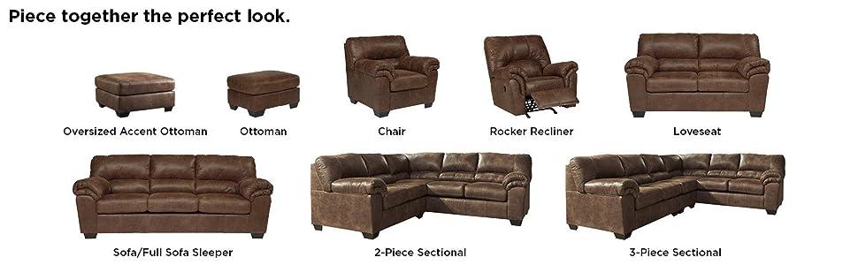 Amazon.com: Ashley Furniture Signature Design Bladen - Sofá ...