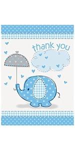 Amazon Com 6 Mini Blue Elephant Boy Baby Shower Decorations 4ct