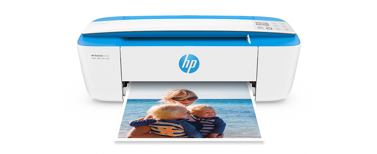 Hp Deskjet 3755 Compact All In One Wireless Printer Hp Instant Ink Works With Alexa Blue Accent J9v90a Electronics