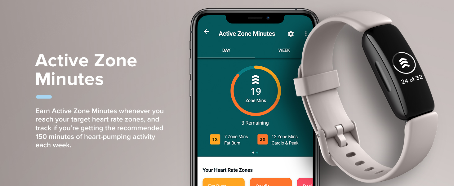 Fitbit Inspire 2 - Active Zone Minutes