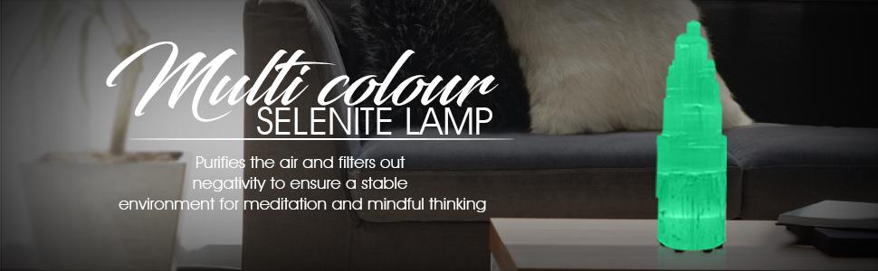 multi color selenite lamp