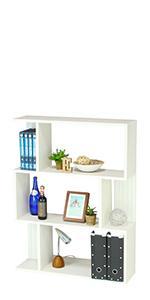 飾り棚 フリーラック ディスプレイラック 本棚 キアエッセ2 KI2-1180WH ホワイト