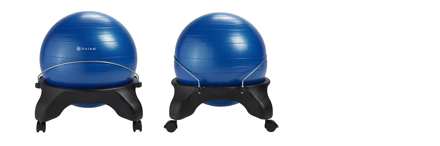 Gaiam Backless Balance Ball Chair Blue Exercise Balls