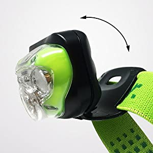 Pivoting head function, freedom to direct light anywhere, built for convenience