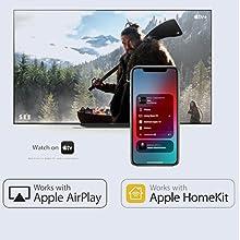 Works with Apple AirPlay/Apple HomeKit
