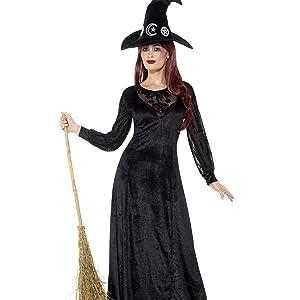 Smiffys - Disfraz de Bruja para Mujer, Talla UK 8 - 10 (33134S ...