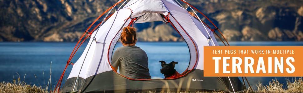tent pegs that work in multple terrains