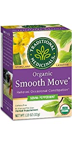 senna, smooth move, peppermint, tea, wellness, constipation