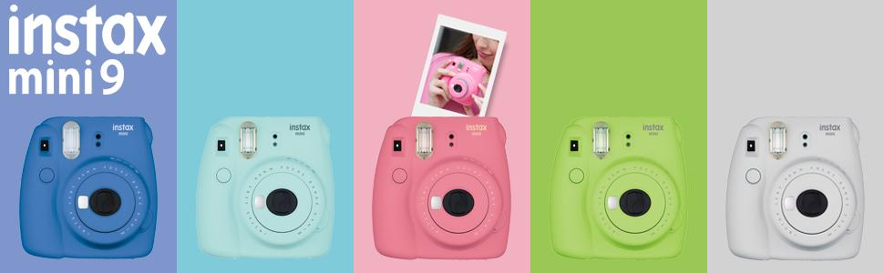 Amazon.com : Fujifilm Instax Mini 9 - Ice Blue Instant Camera ...