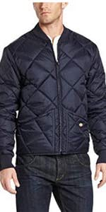 water resistant jacket, quilted jacket, nylon jacket, warm jacket, Carhartt, Black jacket, Wrangler