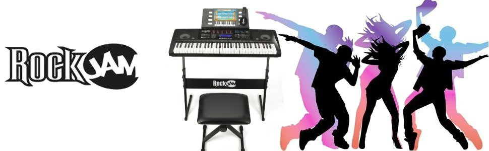 RockJam Kit de 61 Teclado de piano digital, Banco Soporte de ...