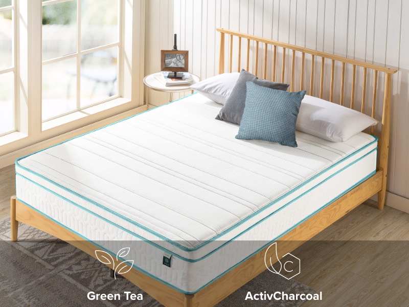 mattress side view with feature icons