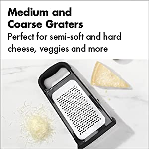 Etched Box Grater with Removable Zester