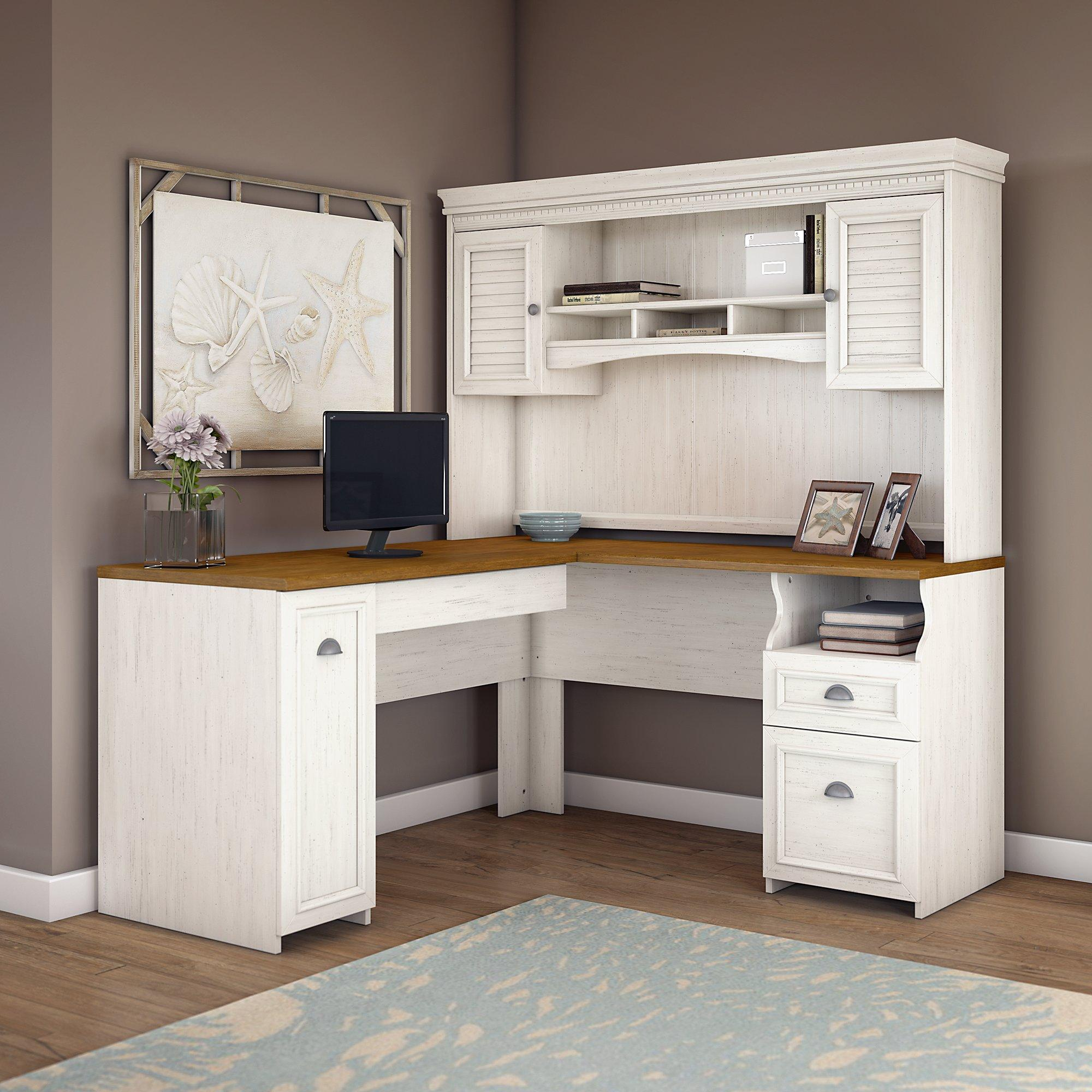 Bush furniture fairview l shaped desk with - Interiors by design computer desk ...