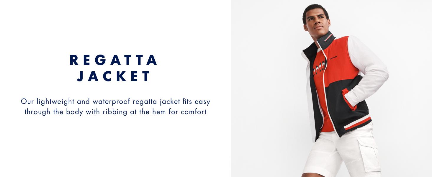 Tommy Hilfiger Regatta Jacket that is lightweight and waterproof